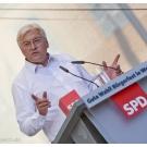 Frank-Walter Steinmeier (SPD) beim Bürgerfest in Weimar