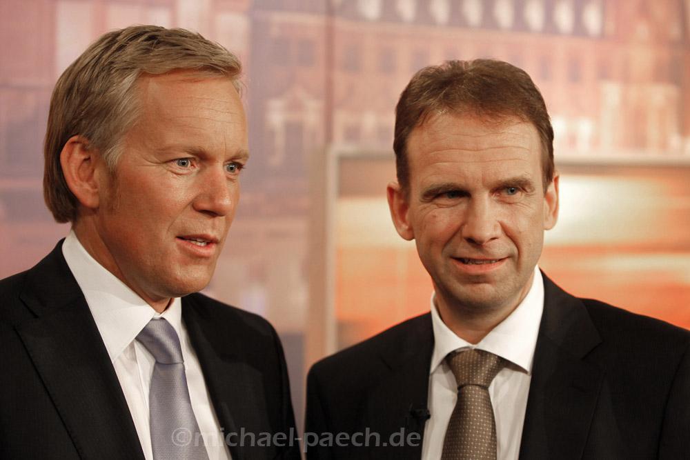 Johannes B. Kerner (GER) und Dieter Althaus (GER)