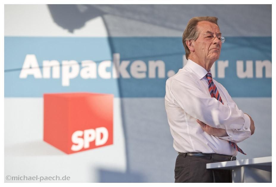 Franz Müntefering (SPD) beim Bürgerfest in Weimar