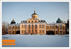 Schloss Belvedere im Schnee